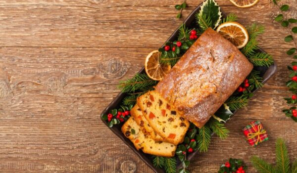 传统的圣诞节甜点 兰姆酒水果蛋糕(组图)