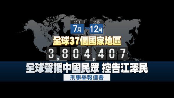人權日聲援法輪功 全球380萬人舉報促法辦江澤民