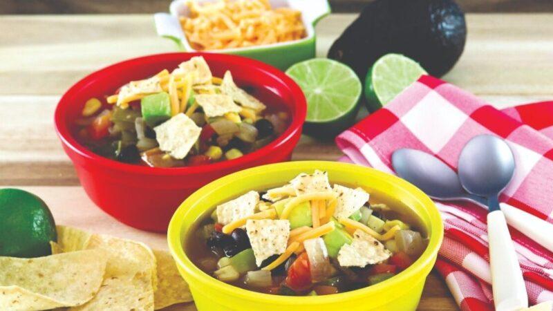 蔬菜玉米餅湯
