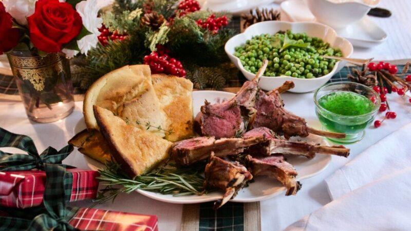 英式圣诞晚餐 香草烤羊架