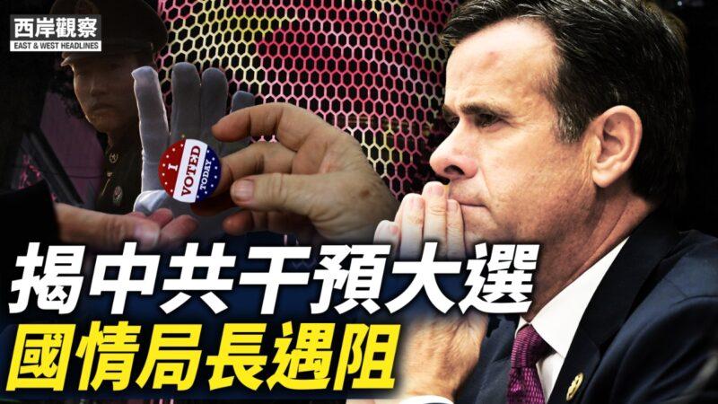 【西岸觀察】揭中共干預大選 國情局長遇阻