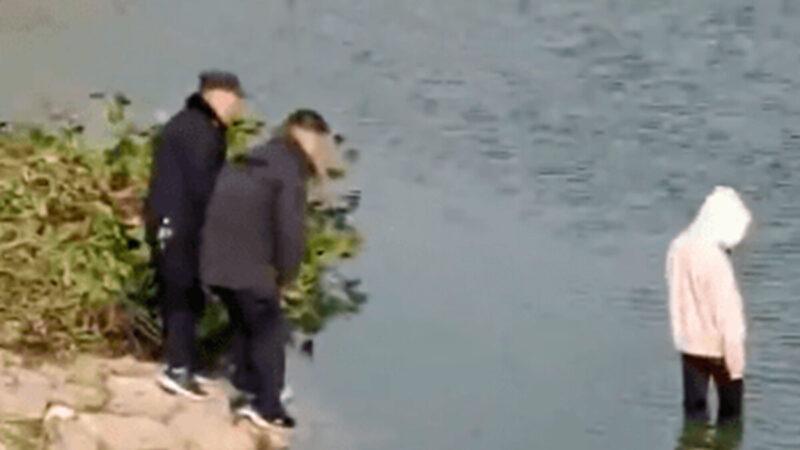 安徽17歲女跳河 眾警2米處「圍觀」她淹死(視頻)