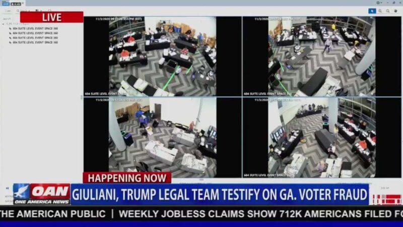 川普团队推视频:赶走监票员后 拉出3箱选票