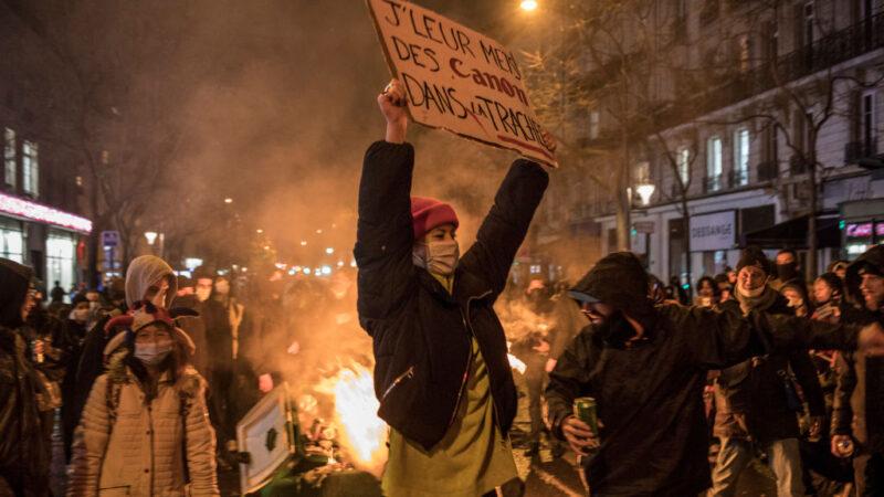 抗議整體安全法 法國各地95人被捕67警受傷