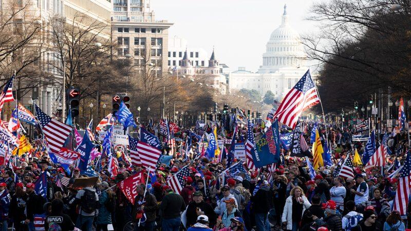美各地华人集会 支持川普连任 维护美国宪法(组图)