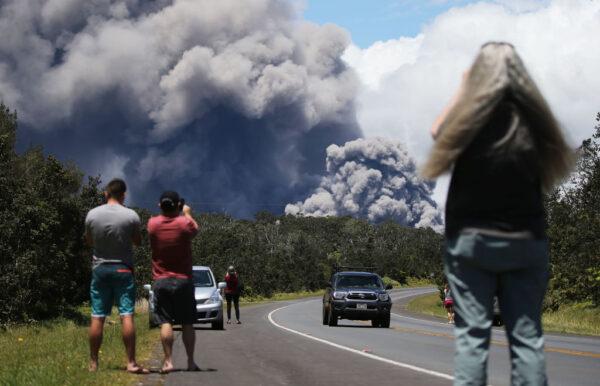 天際變色 夏威夷火山爆發 火山灰恐排入大氣層