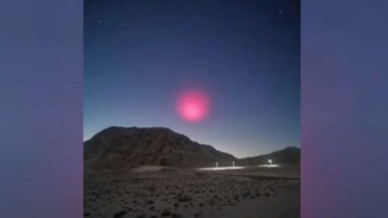 大火球坠落夜中国惊现奇异红光 网友热议(视频)