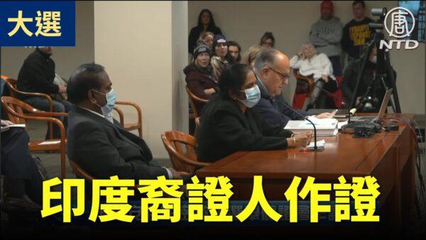 【密歇根選舉聽證會】印度裔證人在丈夫的陪伴下作證