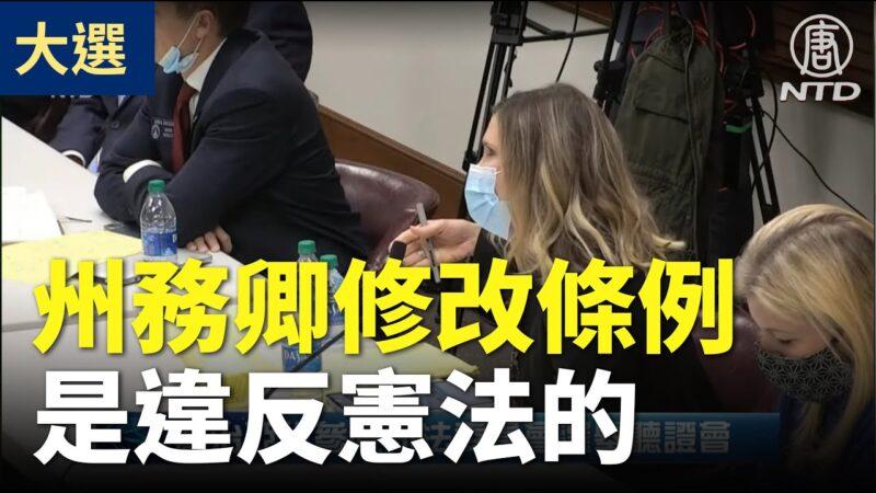 【乔州听证会】法律教授连线作证:州务卿修改认证签名条例是违宪