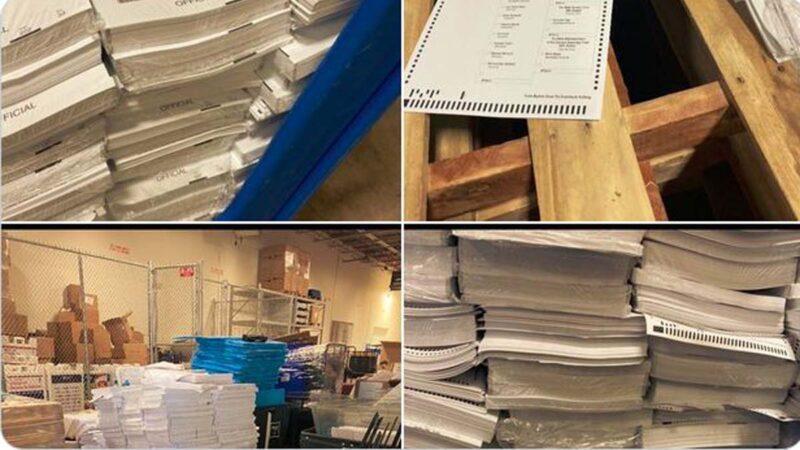 林•伍德公布照片:乔州库房堆满外州来的邮寄选票