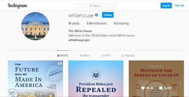 Instagram強制關注白宮帳號 用戶群起吐槽