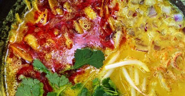 香茅咖哩雞肉湯米粉 逃避冬季的美食