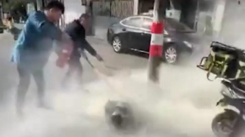 江蘇「餓了麼」外賣員討薪不果自焚 全身80%燒傷