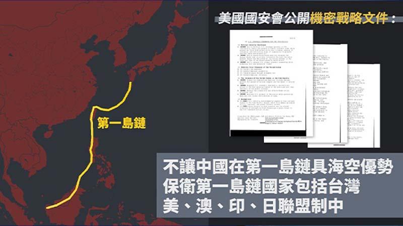 川普國安文件提前30年解密:將中共封在第一島鏈