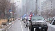 加拿大盛大汽車遊行 頂風冒雪挺川普