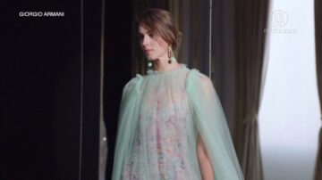 阿玛尼春夏定制时装 尽显米兰贵族风情