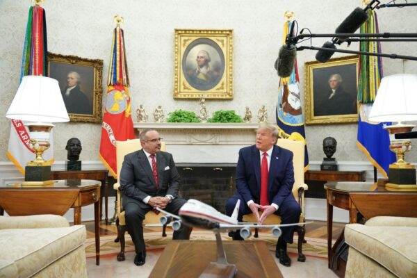 授勳巴林元首 川普肯定與以色列關係正常化