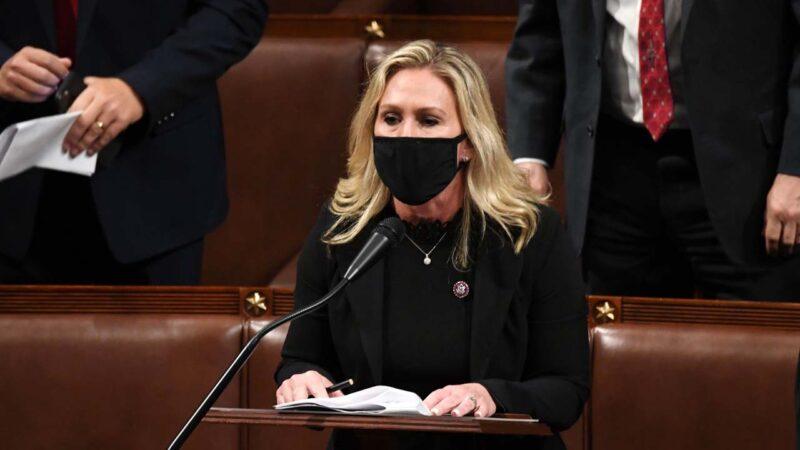 众议员格林发视频 宣布已递交弹劾拜登文件