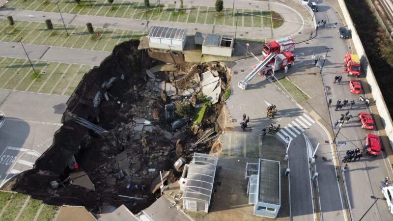 意大利醫院出現巨大天坑 面積逾2000平方米
