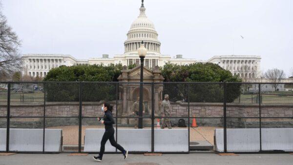 国会大厦调兵6千协防 就职典礼现场加设巨大围栏