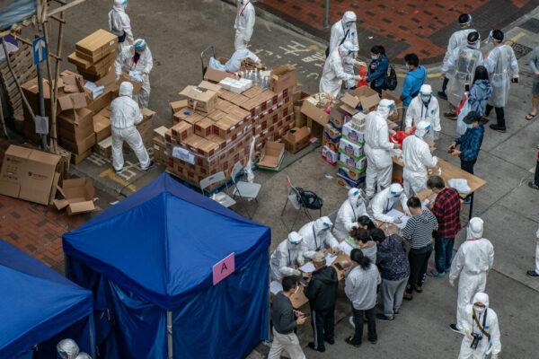 香港累計確診破萬例 「受限區域」民眾強制檢測