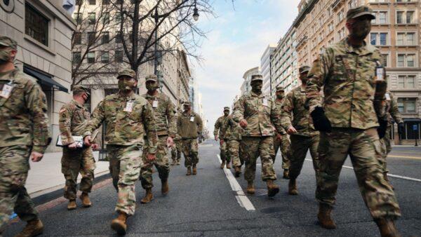 組圖:拜登就職前一天 華盛頓街頭景象