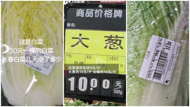 一根蔥10元!中國多地物價瘋漲(視頻)
