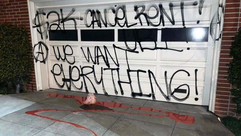 因2000元纾困金 佩洛西和麦康奈尔家门都被涂鸦