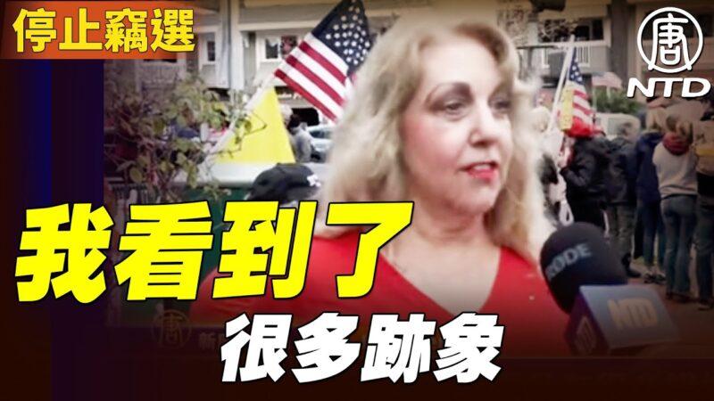 """""""停止窃选""""集会 演员 Judy Cerda:所有美国人的娱乐活动都被剥夺了"""