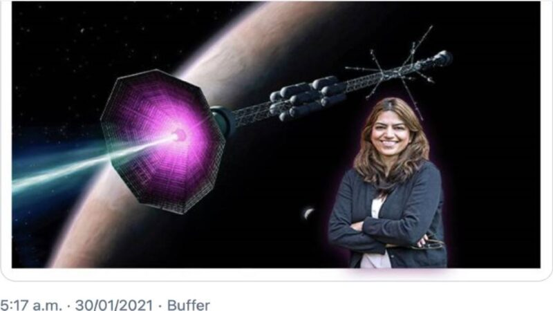 女科学家发明新型火箭 30天到达火星