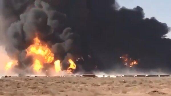 逾300辆油罐车连环爆 阿富汗边城至少60伤(视频)