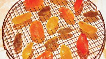新鮮美味的柑橘皮蜜餞