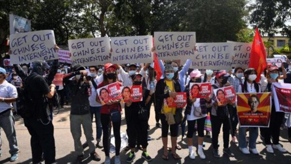中共支持緬甸政變 當地華人遭殃 多家中企遭圍攻