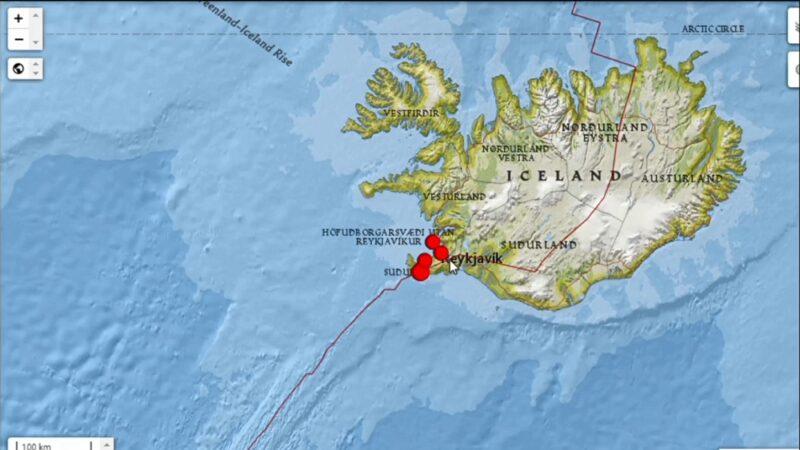 冰岛5.6地震火山活动增加 首都摇不停