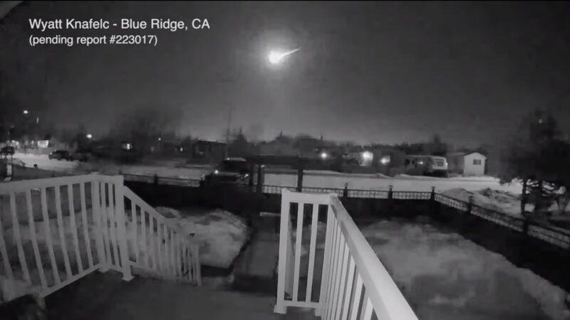 天文奇觀!巨大火球快速飛越加拿大天際(視頻)