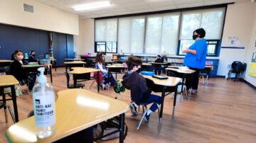 纽森鼓励开放校园 教师无需全数接种疫苗
