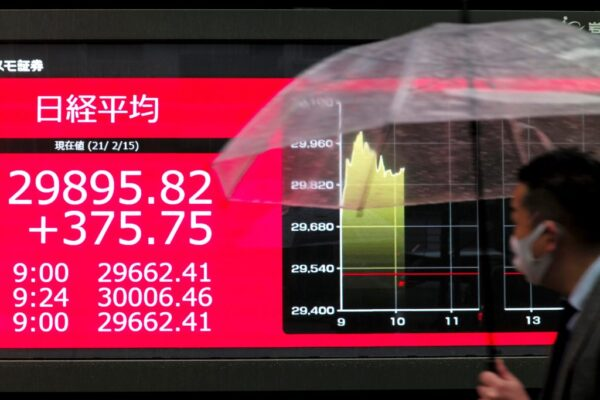 资金充沛 日股涨破3万点 重见30年来高峰