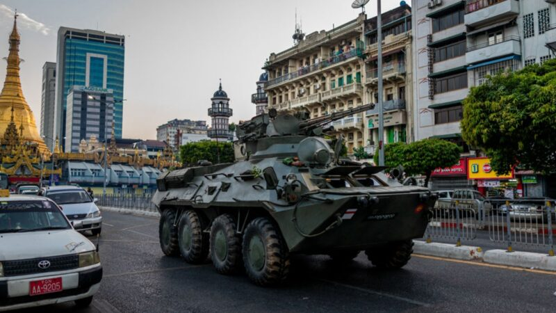 缅甸断网部署军队 疑军方准备大规模镇压