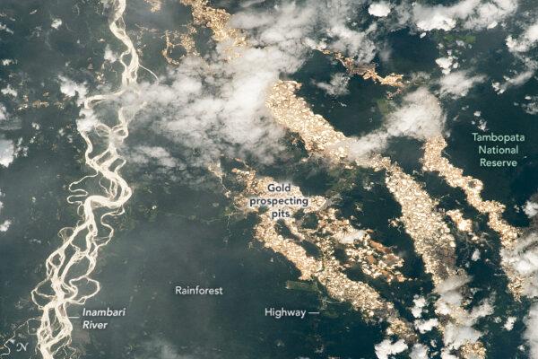 空拍祕魯絕美「黃金河」 NASA揭背後醜陋黑幕