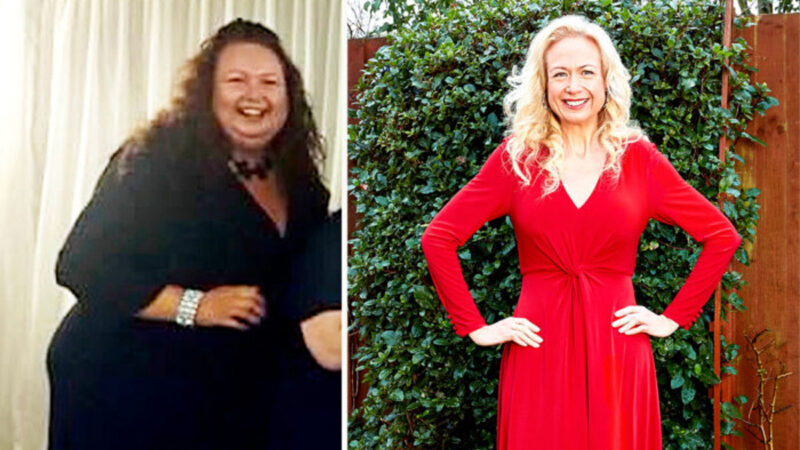 英女子改變飲食習慣 兩年成功減肥240磅