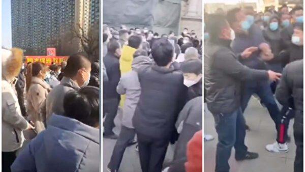 石家莊小區數千居民下樓抗議長期封鎖 與官方衝突
