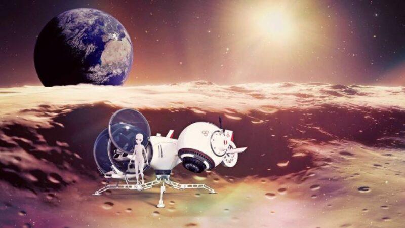 外星人远古时期造访地球?宇航员壁画 狭长头颅