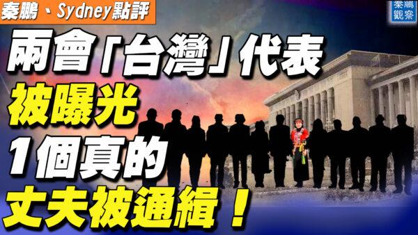 """【秦鹏直播】两会""""台湾""""代表曝光 1个真的丈夫被通缉!"""