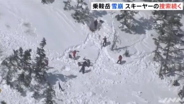 日本长野乘鞍岳雪崩 多人被活埋传一人命危