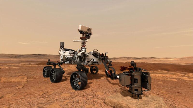 毅力號首度火星試駛 移動6.5公尺留下輪胎痕跡