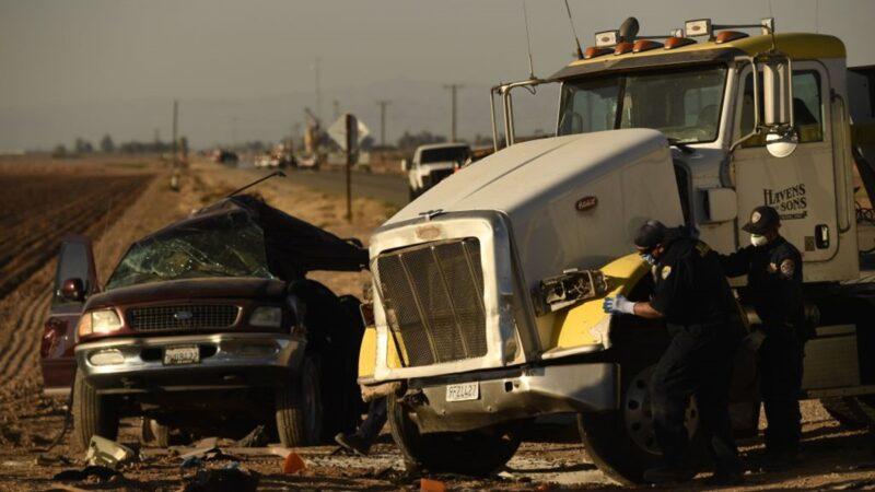 加州重大車禍至少13死 疑超載運非法移民