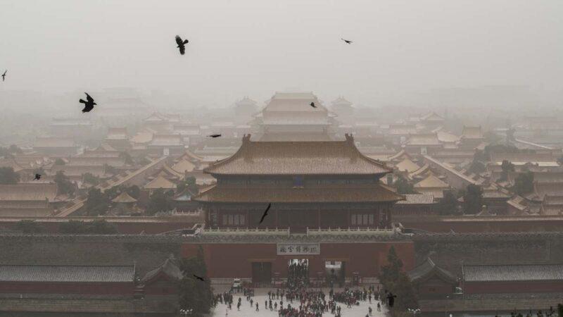 沙尘暴再袭北京又现蓝太阳 13省市同遭殃