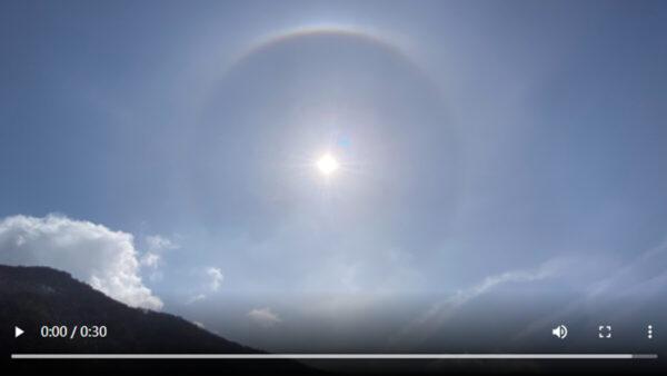 陰霾四伏下 北京海陀山驚現日暈奇觀(組圖)