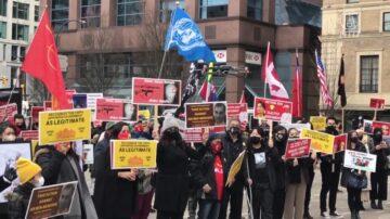 温哥华声援缅甸民主 谴中共幕后黑手