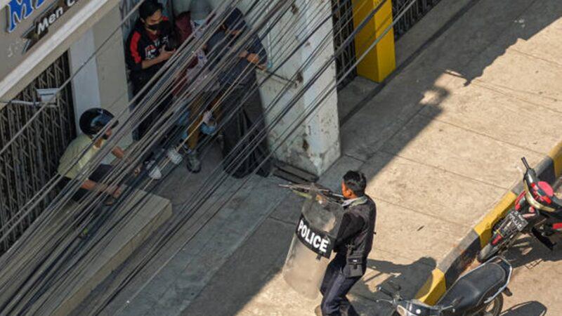 组图:缅甸军方血腥镇压 一天至少18死